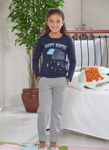 Baskılı Kız Ç. Pijama Takımı-Zeyzey